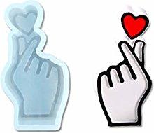 Stampo in resina epossidica a forma di cuore, per