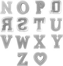 Stampo in resina epossidica con lettere