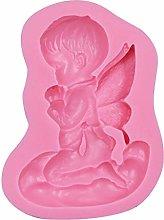 Stampo in silicone 3D a forma di angelo per torte