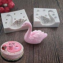 Stampo in silicone 3D a forma di cigno per
