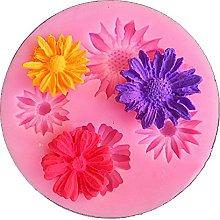 Stampo in silicone 3D a forma di fiore di