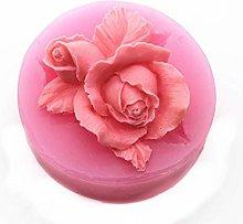 Stampo in silicone 3D con fiori di rosa e fiori di