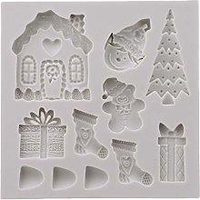 Stampo in silicone 3D in stile natalizio per torte
