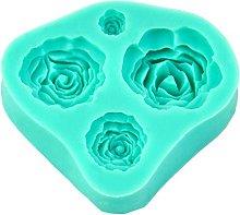 Stampo in Silicone a 4 Rose per Decorazione delle