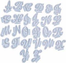 Stampo in silicone a forma di alfabeto, 26 pezzi,