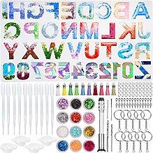 Stampo in silicone a forma di alfabeto in resina