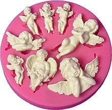 Stampo in silicone a forma di angelo, per cupcake,