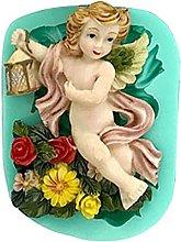 Stampo in silicone a forma di angelo, per dolci