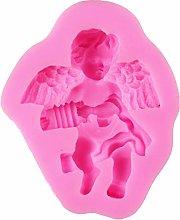 Stampo in silicone a forma di angelo per suonare