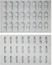 Stampo in silicone a forma di arachidi a 24 fori,