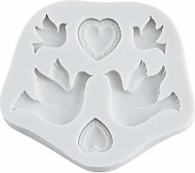 Stampo in silicone a forma di colomba della pace