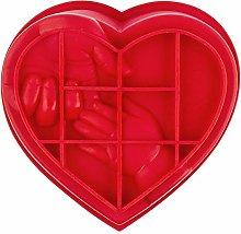 Stampo in silicone a forma di cuore con mani, da
