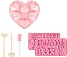 Stampo in silicone a forma di cuore, in silicone,