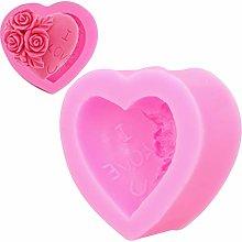 Stampo in silicone a forma di cuore, stampo per