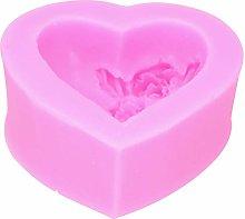 Stampo in silicone a forma di cuore, strumenti per