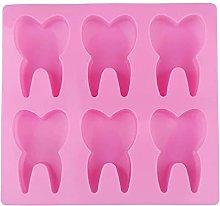 Stampo in silicone a forma di dente fatto a mano,