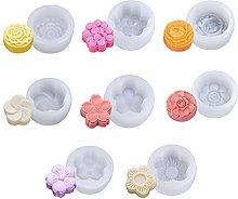 Stampo in silicone a forma di fiore, 8 pezzi,