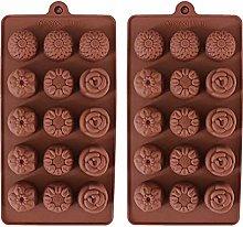 Stampo in silicone a forma di fiore, confezione da