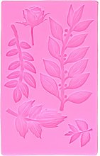 Stampo in silicone, a forma di foglia di rosa