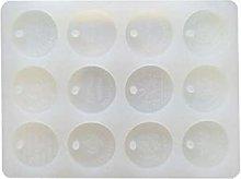 Stampo in silicone a forma di moneta d'oro per