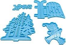 Stampo in silicone a forma di pupazzo di neve in