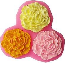 Stampo in silicone a forma di rosa per candela,