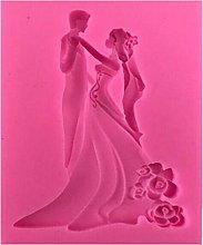 Stampo in silicone a forma di sposa e sposo,