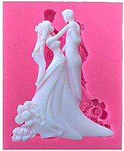Stampo in silicone a forma di sposo, per torte e