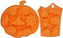 Stampo in silicone a forma di zucca di Halloween,
