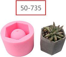 Stampo in silicone cemento fai da te vaso di fiori
