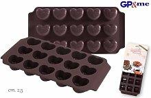 Stampo in Silicone Cioccolatini Cuore - Gp&me