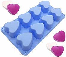 Stampo in silicone composto da 8 cuori, per torte,