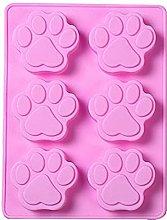 Stampo in silicone con impronta di zampa di cane,