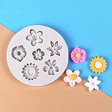 Stampo in silicone con margherite e fiori di