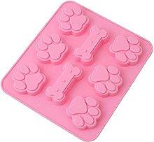 Stampo in silicone con motivo a zampa di cane, per