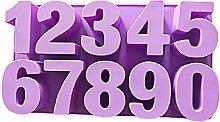 Stampo in silicone con numeri arabi in resina