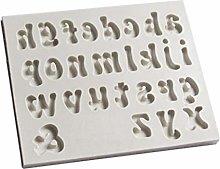 Stampo in silicone con numero di lettere maiuscole