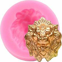 Stampo in silicone con testa di leone 3D fondente