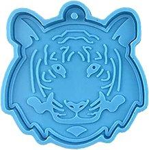 Stampo in silicone con testa di tigre, per fai da