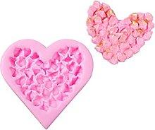 Stampo in silicone DealMux a forma di cuore 3D,