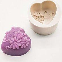 Stampo In Silicone Fiore Rosa A Forma Di Cuore