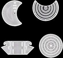 Stampo in silicone Gulang-keng, calendario a forma