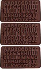 Stampo in Silicone Lettera Inglese 3 Pezzi Stampi