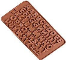 Stampo in silicone per 48 lettere per cioccolato