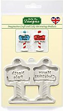 Stampo in silicone per cartelli natalizi per