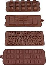 Stampo in silicone per cioccolato da 4 pezzi,