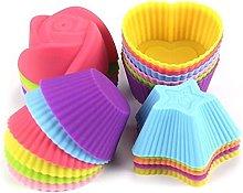 Stampo in silicone per cupcake riutilizzabili,