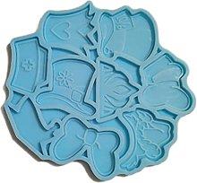 Stampo in silicone per decorazione di torte, con