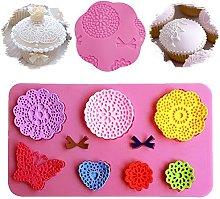 Stampo in silicone per fondente con fiori e