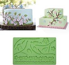 Stampo in silicone per goffratura, motivo: fiori e